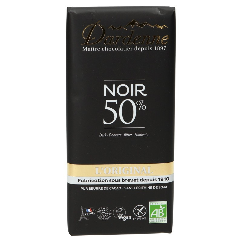 Tablette chocolat noir 50% cacao tradition